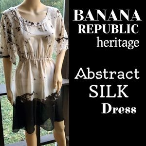 🆕BANANA REPUBLIC HERITAGE▪️Abstract Silk Dress